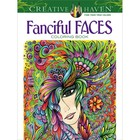 Dover Publishing . DOV FANCIFUL FACES COLOR BK