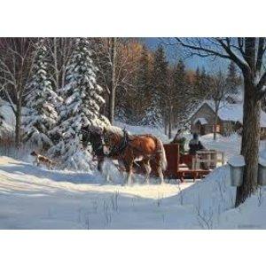 Cobble Hill . CBH SUGAR SHACK HORSES 1000 PC