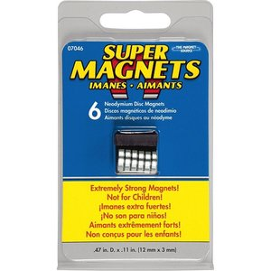 """Magnet Source (the) . MGU MAGNET .472"""""""" X .118 """""""" SILVER"""