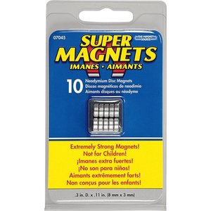 """Magnet Source (the) . MGU MAGNET .315 """""""" X .118 """"""""  SILVER"""