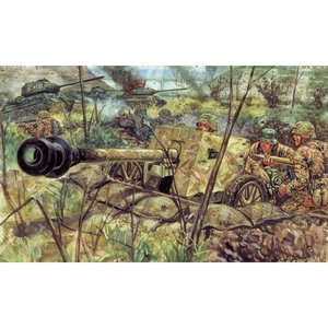 Italeri . ITA 1/32  WW11 ZIS-3 AT GUN /SERVA