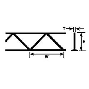 Plastruct . PLS WARREN OPEN WEB TRUSS 9/32