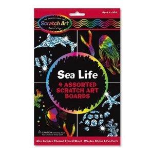 Melissa & Doug . M&D SEA LIFE SCRATCH ART