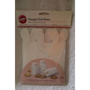 Wilton Products . WIL HEXAGON TRT BOXES PK 4