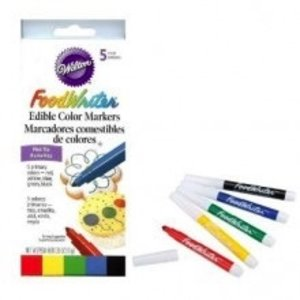 Wilton Products . WIL FOODWRITER 5PK NEON FINE TIP