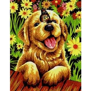 Dimensions . DMS PUPPY GARDEN PNT BY # 9X12