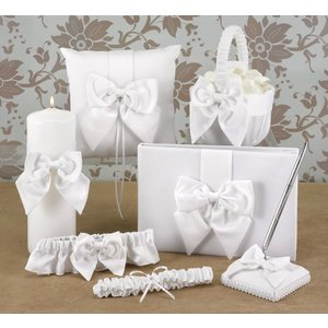 Hortense B. Hewitt Co. . HBH 6PC SATIN SET WHT
