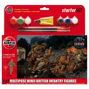 Airfix . ARX WWII BRITISH INFANTRY MULTI PURPOSE