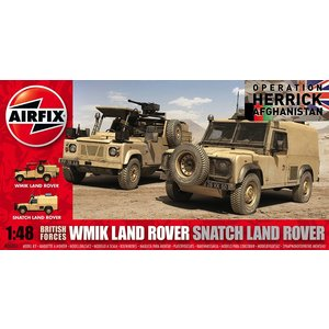 Airfix . ARX 1/48 BRIT FORCES LAND RVER TWIN