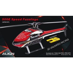 Align RC . AGN 4500 SPEED FUSELAGE RED/WHITE