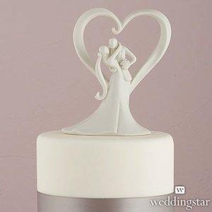 Wedding Star . WST STYLISH EMBRACE CAKE TOPPER