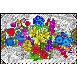 Stuff To Color . SFC 22X32.5 Wall Poster Flower Explosion