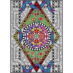 Stuff To Color . SFC 22X32.5 Wall Poster Circle Diamond