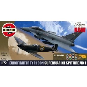 Airfix . ARX 1/72 Eurofighter & Spitfire Twin