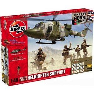 Airfix . ARX 1/48 BRIT HELI SUPPORT