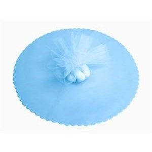 Victoria Lynn Collection . VLC 10 TULLE CIRCLES LT. BLUE