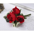 "Victoria Lynn Collection . VLC 4"""" RED MINI ROSE BUD BOUTINER"
