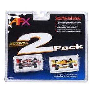 AFX/Racemasters . AFX HO FORMULA 1 TWIN PACK MEGA-G+