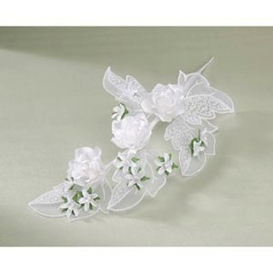 "Victor Model Products . VIC 6"""" EMBOSSED LEAVES W/3 ROSES"