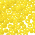 Darice . DAR GLASS E BEADS 6/0 D42YELLOW