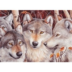 Cobble Hill . CBH WOLF CROWD 1000PC