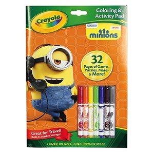 Crayola . CRY MINION COLOR ACT BOOK