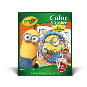 Crayola CRY MINION COLOR STICK BOOK PM Hobbycraft