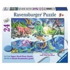 Ravensburger (fx shmidt) . RVB Land Sea Dino  Puzzle 24Pc Floor Puzzle