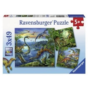 Ravensburger (fx shmidt) . RVB DINOSAUR FASCINATION 3X49