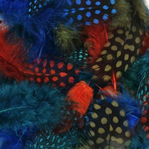 Midwest Design . MWD GUINEA FEATHER ROYAL AUTUMN 2