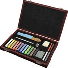 Pentalic . PTL SOFT PASTEL 21PC WOOD BOX