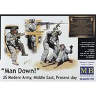 Masterbox Models . MTB 1/35 MAN DOWN US MODERN ARMY
