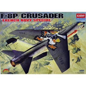 Academy Models . ACY 1/72 F-8P CRUSADER FRENCH AIR FORCE