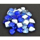 Midwest Design . MWD BLUE GLASS STONES 50 GRAMS