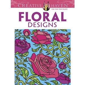 Dover Publishing . DOV FLORAL DESIGNS COLOR BK
