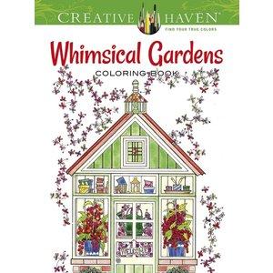 Dover Publishing . DOV WHIMSICAL GARDENS CLR BK