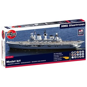 Airfix . ARX 1/350 HMS ILLUSTRIOUS W/PAINT AND GLUE