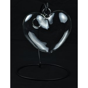 Midwest Design . MWD GLASS HANGING HEART