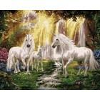 Plaid (crafts) . PLD Waterfall Glade Unicorns