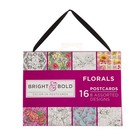 Time Out . TMO COLORIN POSTCARD -  FLORAL