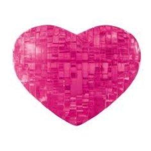University Games . UGI 3D CRYSTAL PUZZ HEART