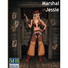 Masterbox Models . MTB 1/24 MARSHAL JESSIE COWGIRL PIN UP