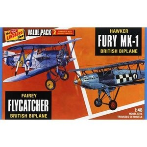 Lindberg . LND 1/48 FAIREY FLYCATCHER/HAWKER FURY 2 PACK