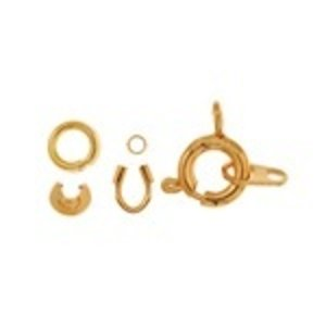John Bead Corporation . JBC SPRING RING CLASPS GOLD         2 SETS