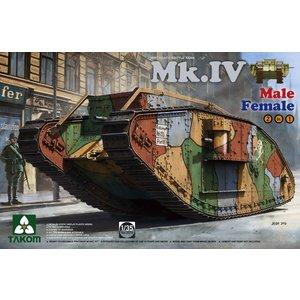 TAKOM . TAO 1/35 WWI MK.IV HEAVY BATTLE TANK 2 IN 1