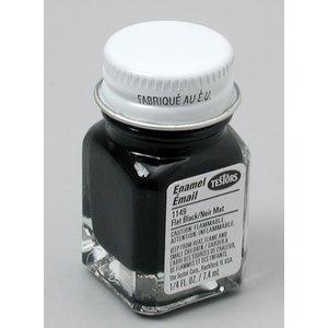 Testors Corp. . TES ENAMEL 1/4OZ FLAT BLACK