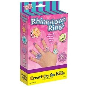 Creativity for kids . CFK RHiNESTONE RINGS MINI KIT