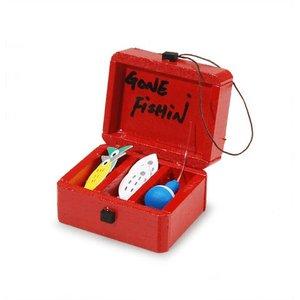 "Darice . DAR MIN. RED FISHING TAKLE BOX 3/8"""