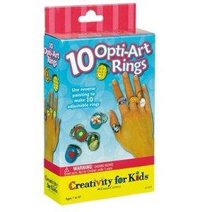 Creativity for kids . CFK POP ART RINGS MINI KIT