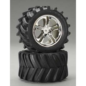 Traxxas Corp . TRA TIRES/WHEELS ASSM MAX/REV